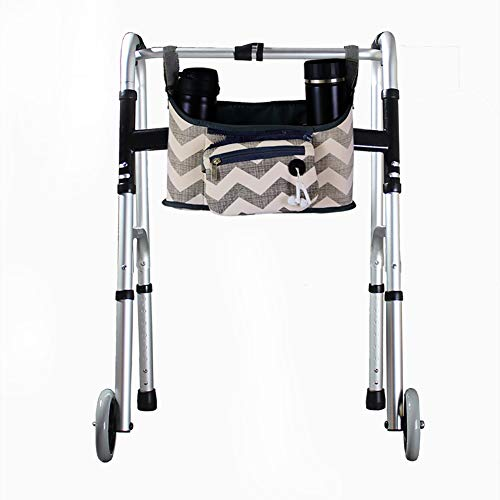 (Wheelchair Side Bag, Hands Free Walker Bag, Durable Walker Rollator Scooter Accessory Storage Tote Bag, Folding Walkers Organizer Pouch Caddy for Elderly,Seniors, Handicap and Disabled 12.6
