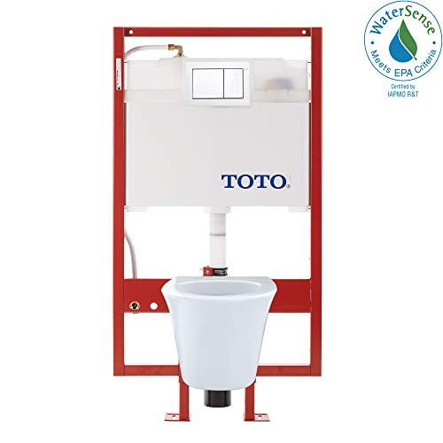 Toto CWT486MFG-1#011.6-GPF/0.9-GPF Maris Wall-Hung Toilet and In-Wall Tank System, Cotton