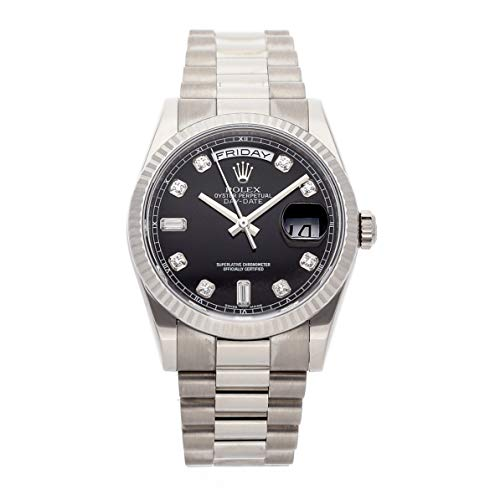 Rolex Day-Date Mechanical (Automatic) Black Dial Mens Watch 118239 (Certified Pre-Owned)