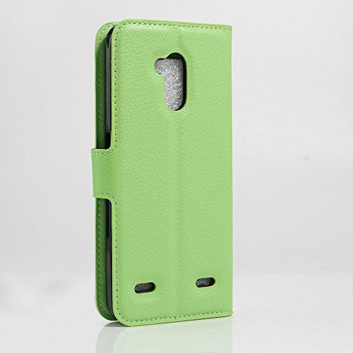 Funda ZTE Blade V7 Lite,Manyip Caja del teléfono del cuero,Protector de Pantalla de Slim Case Estilo Billetera con Ranuras para Tarjetas, Soporte Plegable, Cierre Magnético E