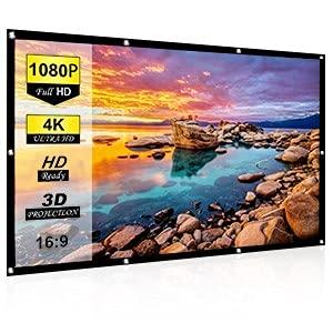 Pantalla de proyección portátil antiarrugas 84 HD