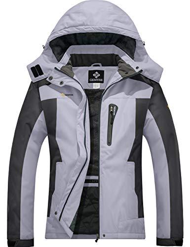 GEMYSE Women's Mountain Waterproof Ski Jacket Windproof Fleece Outdoor Winter Coat with Hood