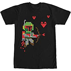 Star Wars Valentine's Day Boba Fett Cupid Mens Graphic T Shirt