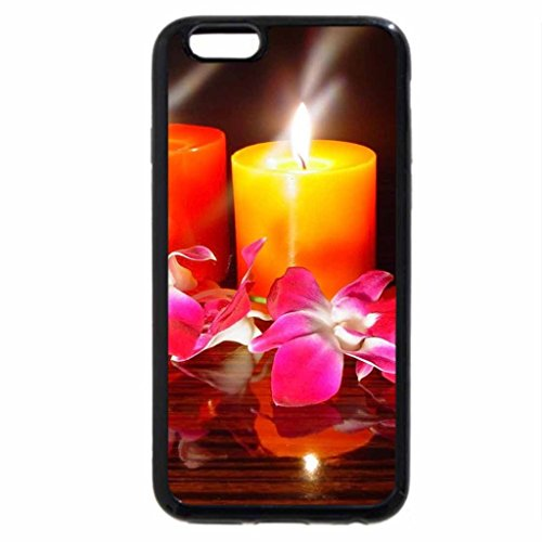 iPhone 6S / iPhone 6 Case (Black) CANDLELIT ORCHID
