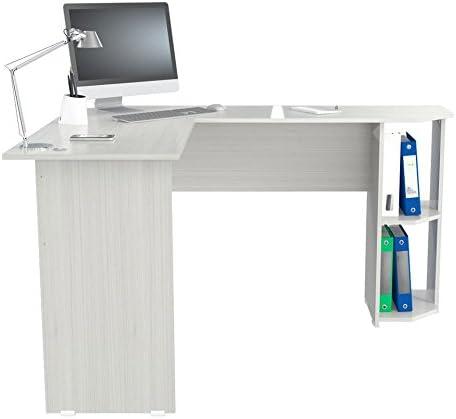 Inval Merlin L-Shaped Writing Desk - a good cheap modern office desk