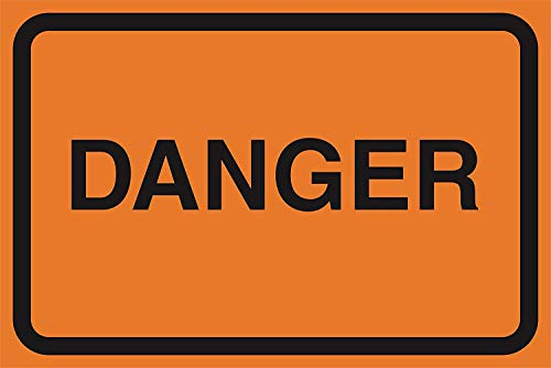 DYTrade Tin Sign Danger Orange Road Street Driving Construction Area Zone Safety Notice Warning Business Signs Commercial Metal Sign - 8x12 Inch from DYTrade