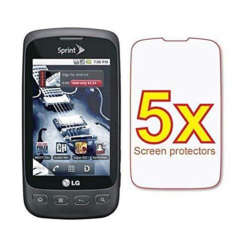 (5X LG Optimus S LS670 Premium Clear LCD Screen Protector Shield Cover Guard Film Kit)