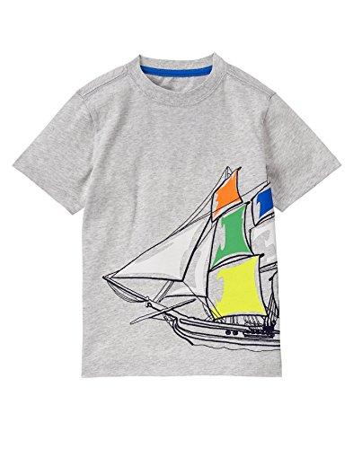 Gymboree Big Boys Noveltee Shirt  Grey Ship  7