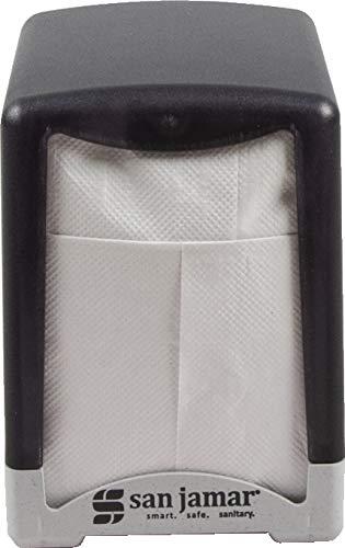 (San Jamar H950TBK Compact Tabletop Lowfold Napkin Dispenser, Black Pearl)
