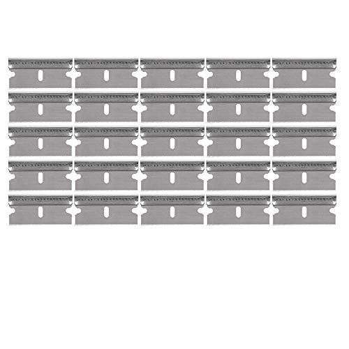 "Replacement Razor Blade Scraper Blades (25 Blades) - #9 .009"" 1.5""w- Compatible with Werxrite RetraGuard Scrapers & Other Tools"