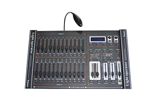 New 24 CH DMX-512 Dimming Console Stage Lighting Controller With LED Lamp Pro DJ ()
