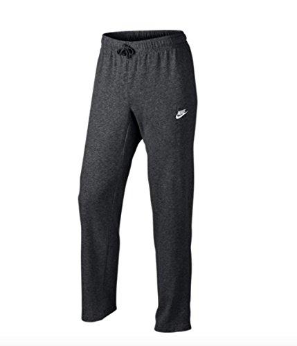 Nike Mens Open Hem Club Cotton Jersey Light Sweatpants Charcoal Grey/White 804421-071 Size X-Large