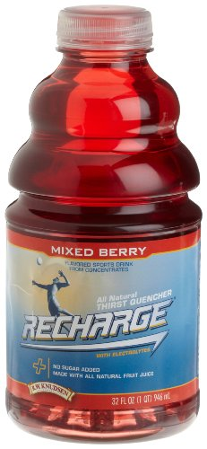 Lemon Recharge (R.W. Knudsen Recharge Sports Drink, Mixed Berry, 32-Ounce Bottles (Pack of 12))