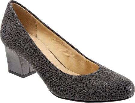 Trotters Candela Dress Women's Lizard Dark Grey Pump wawZxOCq
