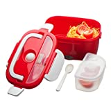 Kabalo Red Electric Electronic Heated Portable Compact FOOD WARMER Lunch Bento Box 40W 1.5L - UK plug