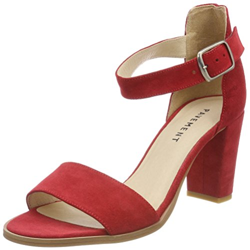 Suede Sandali Donna Caviglia 324 Rosso Pavement Cinturino Silke Red 324 con alla zwa4g4Fq