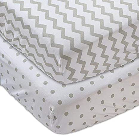 Cradle Sheet Set by Elys /& Co no Need for Changing Pad Liner Waterproof Changing Pad Cover Set