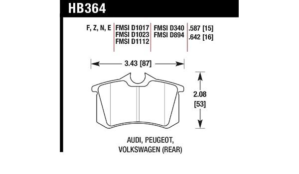 HB364N.642 Hawk HP Plus Disc Brake Pads