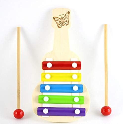子どもたち打楽器玩具 少年少女のためのパウンディングキッズグレートギフト形状マッチングと木製の木琴の子供のおもちゃ ドラム・打楽器 (色 : Natural, Size : 21x11x1.8cm)