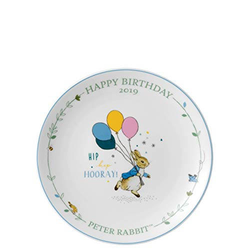 Wedgwood Peter Rabbit Annual Birthday Plate 2019 Gift Boxed 8 inches / 20cm Diameter