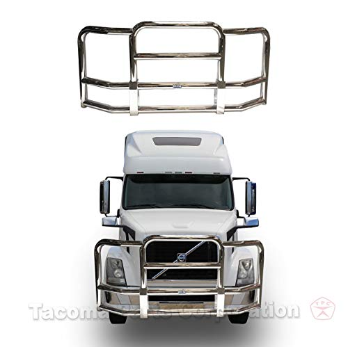 Longroadaccess Volvo Vnl Front Bumper Grill Guard for Volvo Semi Truck. Truck Grill Guard, Volvo Vnl Bumper, Deer Guards for Volvo Truck Grill Guards - Large, - Deer Guard