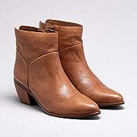 Ankle Boot Couro Nocciola