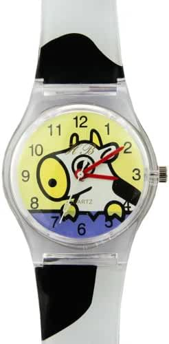 TimerMall Cartoon Little Cow Circle Dial Quartz Kids Watches