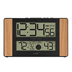 La Crosse Technology Atomic Digital Clock, Oak