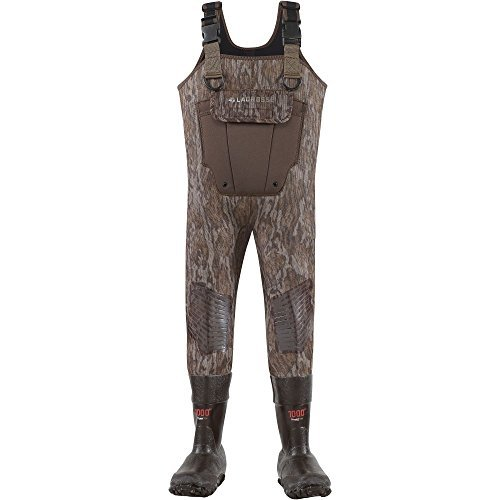 - Lacrosse Waders Youth Mallard II Mossy Oak Bottomland 1000G (700319) | Waterproof | Insulated Modern Comfortable Hunting Combat Boot Best for Mud, Snow (4)