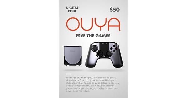 Amazon com: OUYA $50 Digital Token [Online Game Code]: Video