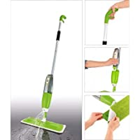 DFS Aluminium Spray Mop Set with Microfiber Washable Pad, Best 360 Degree Easy Floor Cleaning for Home & Office (Green)