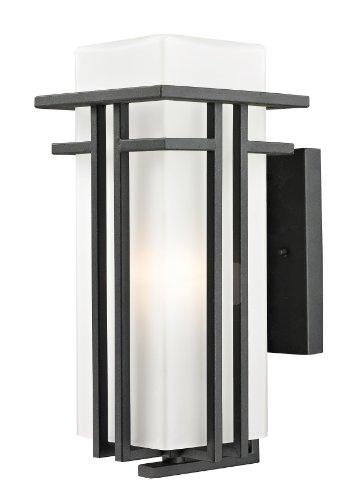 Bk Opal Matte - Z-Lite 549M-BK Outdoor Wall Light, Matte Opal