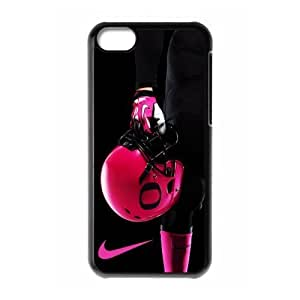 Sports Just Do It 1 NCAA Oregon Ducks Pink Football Helmet Print Black Case With Hard Shell For Iphone 5/5S Case Cover