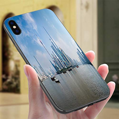 (Creative iPhone Case for iPhone XR Panorama of Pudong District Shanghai China Resistance to Falling, Non-Slip,Soft,Convenient Protective Case)