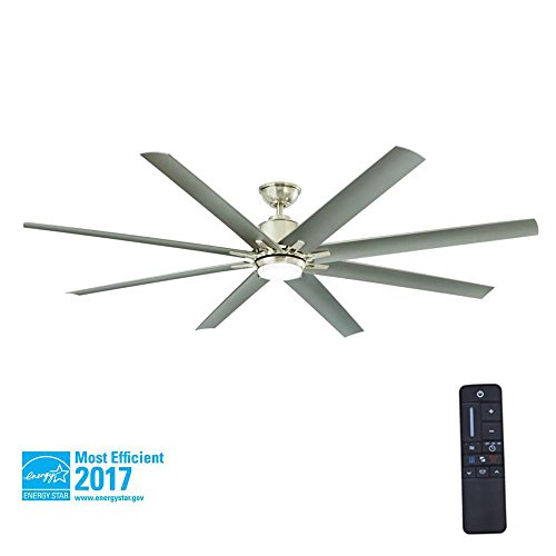 Home Decorators Collection Kensgrove 72 In Brushed Nickel Led Ceiling Fan With Remote 72