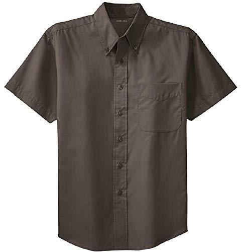Joe's USA - Men's Short Sleeve Wrinkle Resistant Easy Care Shirts-6XL