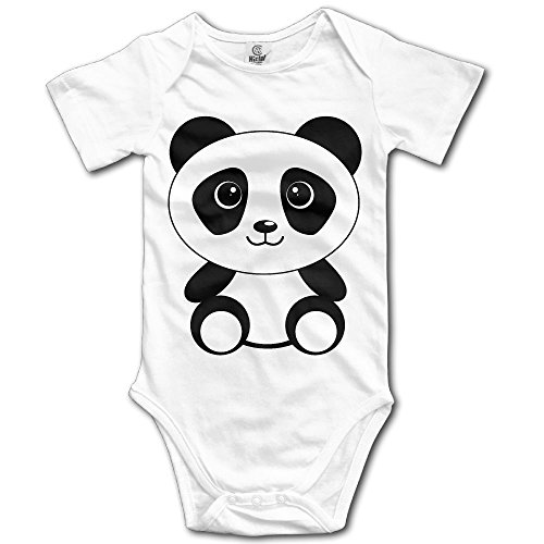 [Infant Baby Clothes Panda Short Sleeve One-Piece Tank Shortie Romper 3M] (Panda Bear Baby Plus Size Costumes)