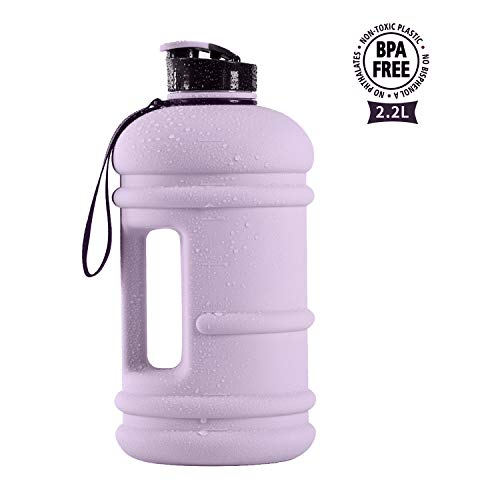 TOOFEEL Half Gallon Water Jug 2.2L/1.3L Big Water Bottle Container 73OZ Large Water Canteen BPA Free Leakproof for Gym Fitness Athletic Outdoor Camping Hiking