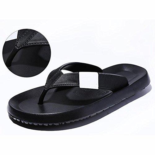 XIAOLIN Zapatillas de los hombres de verano Slip zapatillas al aire libre sandalias de goma Casual Beach Shoes hombres (tamaño opcional) ( Color : 02 , Tamaño : EU39/UK6.5/CN40 ) 01