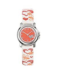Certus Paris Kids' 647456 White Calfskin Leather Designed Band Watch
