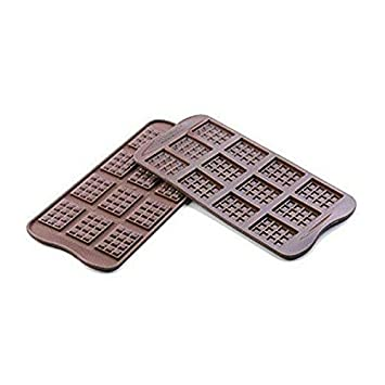 Moldes para pasteles de silicona tableta chocolate 12 plazas: Amazon.es: Hogar