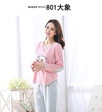 Amazon.com  MH-RITA Winter Women Pajama Modal Sets Autumn Sleepwear ... e1ea85260