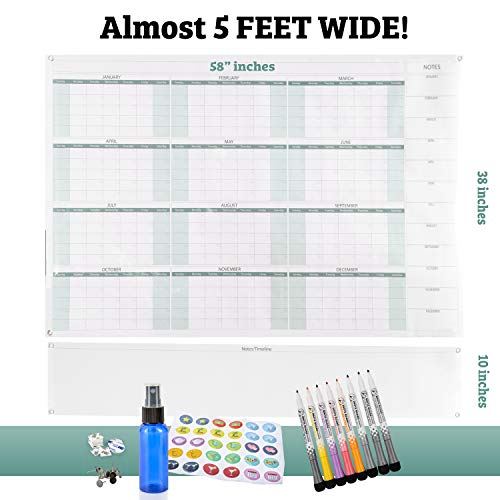 12 Month Wall Planner - Large Dry Erase Wall Calendar 58