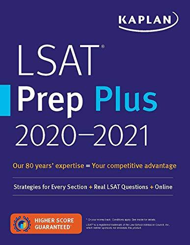 Cheap LSAT Prep Plus 2020-2021: Strategies for Every Section + Real LSAT Questions + Online (Kaplan Test Prep) lsat prep books