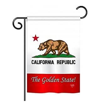 """California the Golden State Garden Flag 13""""x 18.5"""""""