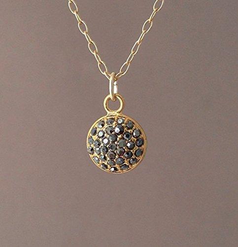 Gold Pave Brown Black Crystal Sparkling (Sparkling Pave Crystal)