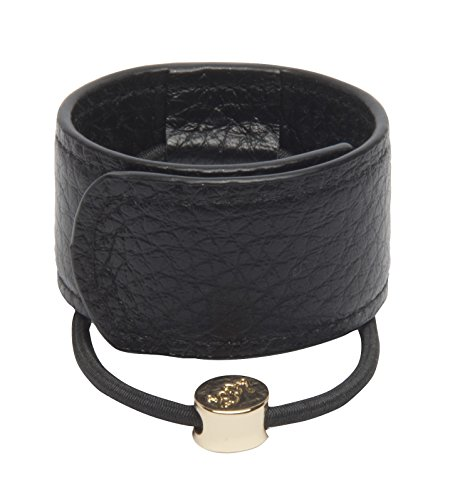 - 1907 Leather Hair Cuff, Black NHH060