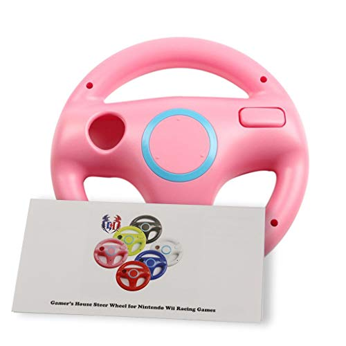 - GH Wii Steering Wheel for Mario Kart 8 and Other Nintendo Remote Driving Games, Wii (U) Racing Wheel for Remote Plus Controller - Peach Pink (6 Colors Available)