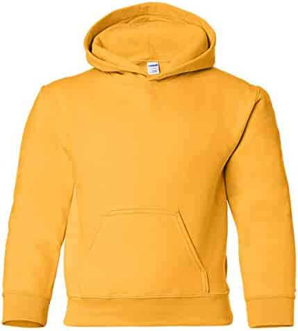 Gildan Heavy Blend Youth 8 oz., 50/50 Hood, XS, GOLD