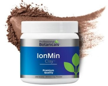 Mega Mins Iron - Professional Botanicals Ion-Min Clay - Mega Mineral Supplement Blend of 60 Biologically Available Macro-Micro Minerals - 250 Grams